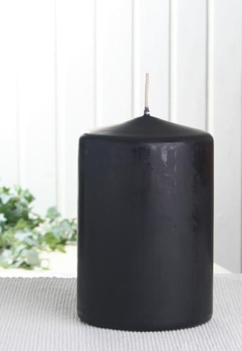 stumpenkerze 15 x 10 cm schwarz 8111157 candle corner. Black Bedroom Furniture Sets. Home Design Ideas