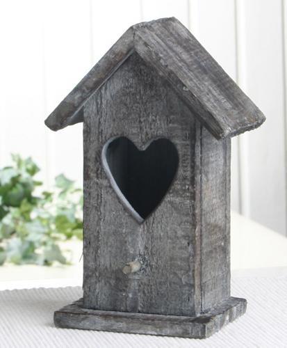 deko vogelhaus aus holz natur grau mittel ca 17 x 9 x. Black Bedroom Furniture Sets. Home Design Ideas