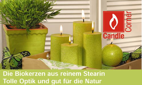 bio kerzen stearin kerzen candle corner. Black Bedroom Furniture Sets. Home Design Ideas